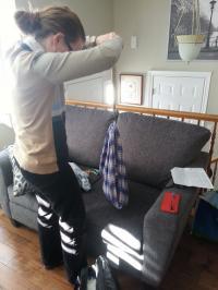 Tamara weighing Garrett